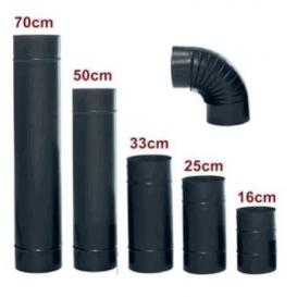 Siyah Soba Borusu 16 cmlik